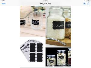 Chalkboard Labels (32 pc) kitchen, mason jars, any organization