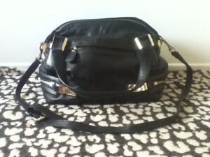 Genuine black leather bag - great condition