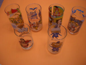 COLLECTIBLE GLASSES FOR SALE MUPPETS, FANTASIA, WWF, ANNIE