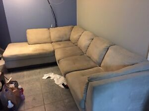 Oakdale Mushroom coloured sectional (MUST GO ASAP make an offer)