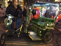 Tok Tok Pedicab Bicycle Kids Boy Girl Mate Fun Rickshaw Tuk Tuk 3 Wheels Electric Bike Engine FUN