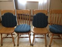 solid oak chairs 4