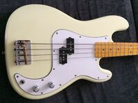 Vintage V4 bass maple gloss neck white cream body Px precision jazz