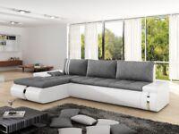 Corner Sofa Bed FADO MINI Left White Special Offer