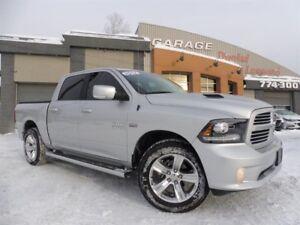Dodge Ram 1500 SPORT, CREW CAB, CUIR, GPS TOIT, 20 POUCE, A VOIR