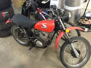 1978 Honda XL 100. Trade for a 50cc bike or sell
