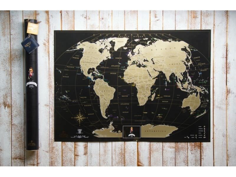 Great Gift. Deluxe Scratch the World Poster. Personalized Large Map Traveler
