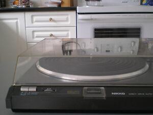 Vintage NIKKO NP800II DirectDrive turntable AT120E AudioTechnica