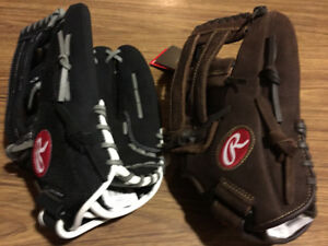 2 NEW Rawlings Leather Baseball Gloves, 13 Inches, Catch Left
