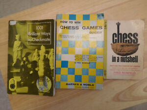 3 Fred Reinfeld Vintage Chess Books
