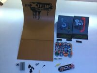 Tech Deck Quarter pipe with ramps, spare parts and skateboards