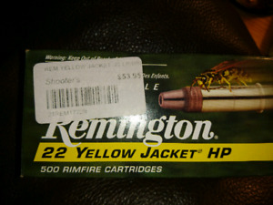 Remington. 22 yellow jacket HP