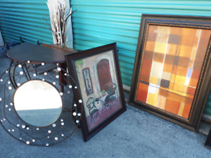 Random Pictures, Mirrors, Tables **Delivery Available**