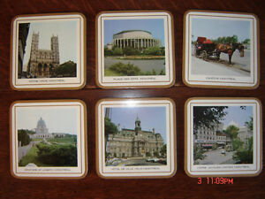 Classic Pimpernel Coasters with Montreal Scenes (New)
