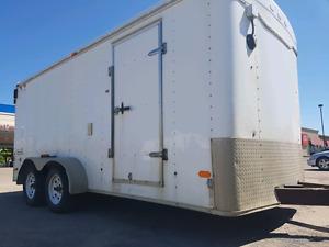 Haulmark 7x16 Dual 3500 LB Axle Enclosed Cargo Trailer