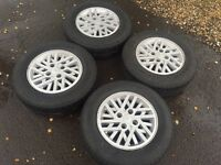 "Ford 90 spec xr3i 14"" alloys with good tyres"