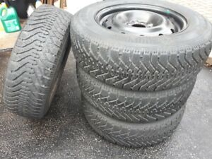 Goodyear Nordic Winter tires and rims 215 65R 16