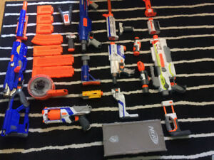 Nerf Gun and add-ons collection for $90 or best offer