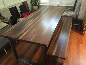 Handcrafted Walnut Dining Table/ Office Desk $1695