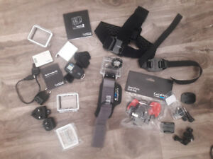 GoPro Accessories, mounts, stickers, wrist, head mount, wifi,