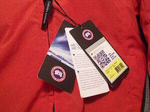 Authentic women's red Whistler Canada Goose Jacket for sale. St. John's Newfoundland image 2