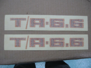Firebird Trans Am T/A 6.6 Shaker Scoop Sticker \ Decal