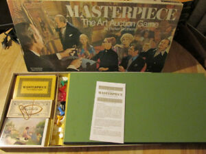 Parker Brothers MASTERPIECE Board Game Vintage 1970s Art Auction