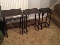 Vintage Edwardian nest of tables