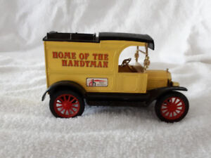 (8) Home Hardware Die Cast Delivery Truck Bank...Father's Day!!