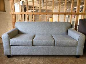 BRAND NEW CANADIAN MADE GREY SOFA -FITS THROUGH ANY DOOR/SPACE