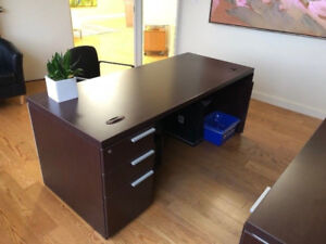 Computer Desk with side extension