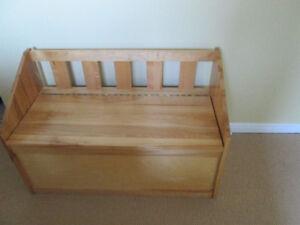 Birch storage bench/chest - $90