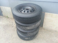 195/75R14 Motomaster AW All Season tires Ford 4x108 rims 4x4.25.