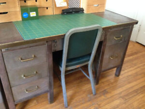 Vintage Industrial Steel Desk-New Price (From $375)