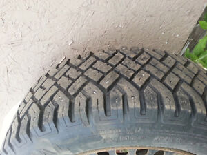 "4-14"" Studded snow tires on five lug rims. Good Condition!"