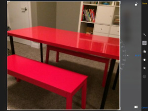 Children's Craft Table and 2 Benches