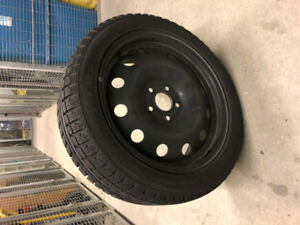 Winter Maxtrek Trek 7 225/45R17 complete with Steel RIms
