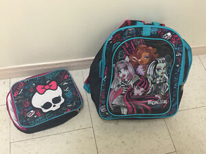 Monster High Backpack and lunch bag