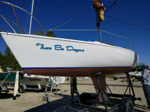 21' sailboat, trailer, motor, sails - ready to go!