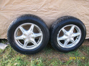 16 inch studded tires and Alero rims