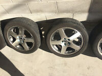 vw volkswagon performance rims + brand new all season tires