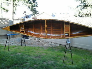 Cedar strip canoes