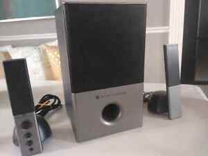 Altec Lansing computer/aux powered audio system