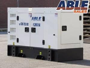 Diesel Generator 12 kVA 240V  1 Phase - BRAND NEW - WARRANTY