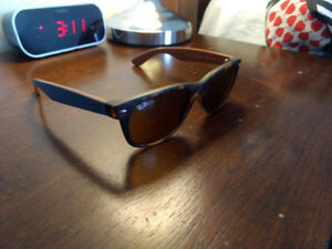 RayBan New Wayfarers Blue + Leather Case - Price Negotiable
