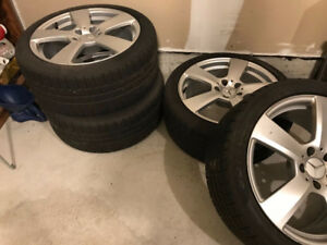 Mercedes E-Class Winter Tires and Rims - Used for Four Months