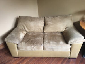 Tan- Coloured Love Seat for Sale
