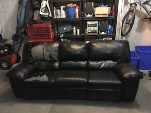 Free leather reclining couch!