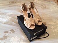 Used Rudsak Leather Sand Beige Platform Sandals Size 38