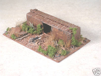 HO Scale Trackside Hobo Camp with Abandon Box Car, Ver #3